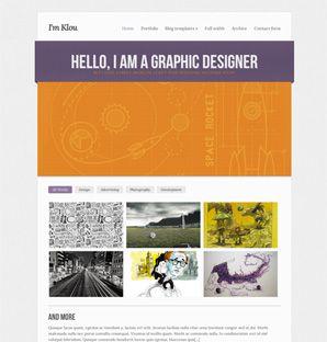 Klou Portfolio theme for WordPress