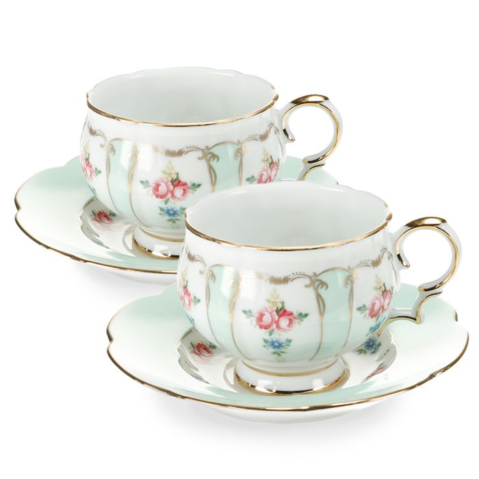 Пара чайная,1 перс, 2 пр, Зеленый орнамент  3 790 руб