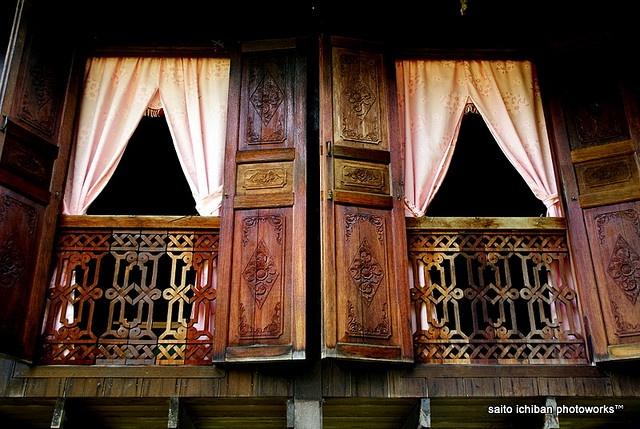Traditional Malay House -- windows
