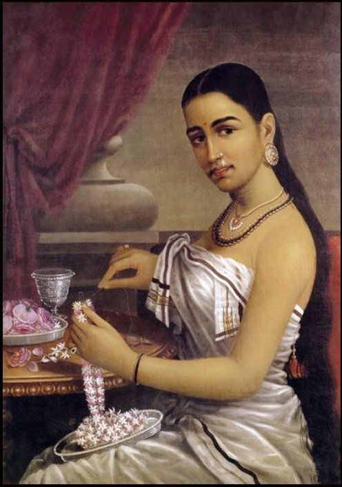 Raja Ravi Varma, Lady with Flower Garland - Clothing in India - Wikipedia, the free encyclopedia