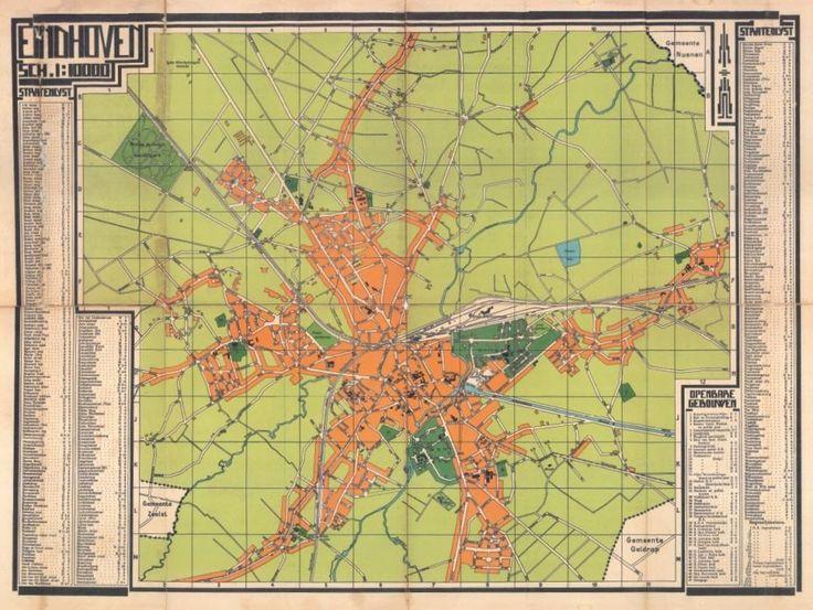 Stadsplattegrond Eindhoven 1925