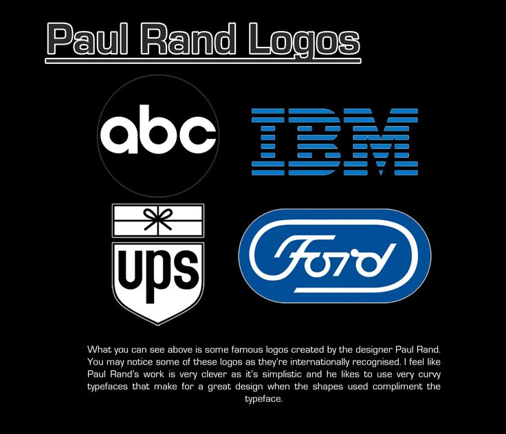 Paul Rand logos page