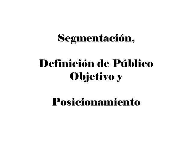 Segmentacion de Mercado y Variables