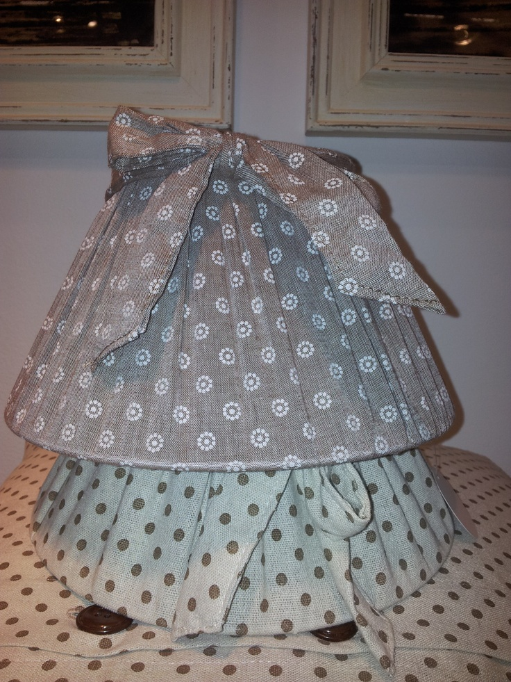 handmade lamps, different fabric...<3