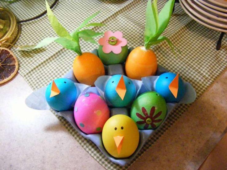 Decorare le uova di pasqua: idee fai da te - Pulcini pasquali con le uova