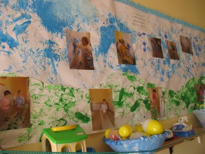 Reggio, Italy: toddler mural w/photo documentation