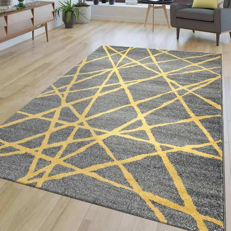 Abstract Bedroom Carpet Carpets Gray Lines Living Room Rugs Yellow Carpet Living Room Abstract Lines In 2020 Living Room Carpet Gray Bedroom Grey Bedroom Rug