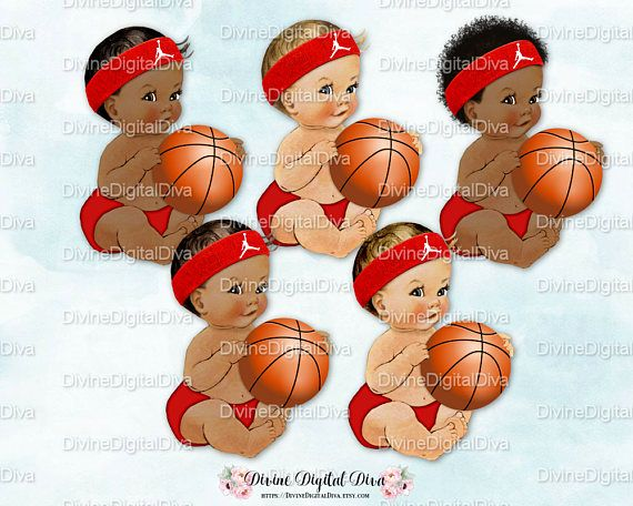 ♥ Sitting baby boy in red with basketball. ►Standing: https://www.etsy.com/listing/275290878/ ►Standing: https://www.etsy.com/listing/536355699/ ♥ You will receive 5 (5 x 6) individual images in transparent PNG format 300 dpi. 3 skin tones, Dark, Medium & Light. ♥ Personal &