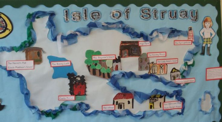 Year 2 display on the Isle of Struay