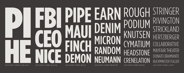 Gotham Condensed Fonts | H