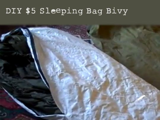 How to make a bivy for lightweight camping...DIY $5 Sleeping Bag Bivy - Preparing For SHTF