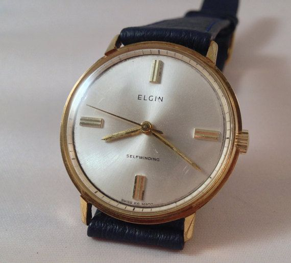 1960's Elgin Self Winding  Gold Plated 20 by StonebrookVintage