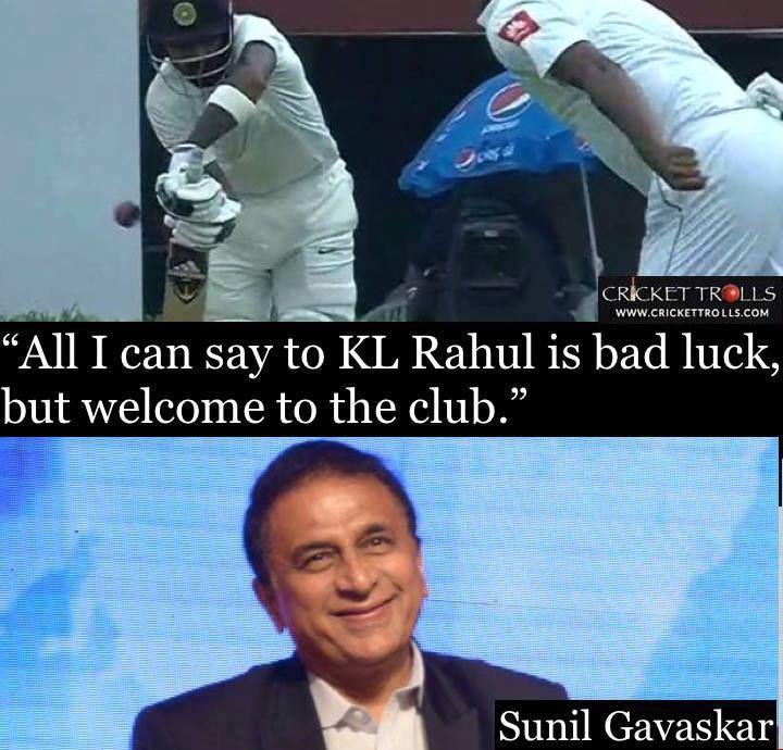 Sunil Gavaskar's words after KL Rahul got out on the first ball of a Test match #INDvSL - http://ift.tt/1ZZ3e4d