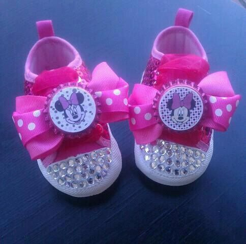 Minnie Mouse Nursery | Minnie Mouse Rhinestone Bling Crib by PinkToesAndHairBows on Etsy, $30 ...