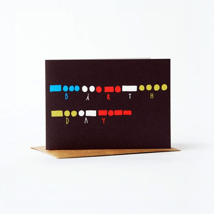 Morse code card happy birthday product images 5th for Code postal 97
