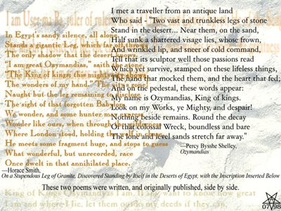poetry and ozymandias heart Ppt of ozymandias - download as powerpoint presentation (ppt / pptx), pdf file ozymandias poem i met a traveller from an antique land who the 'hand that mocked' and the heart that fed b d wrinkled lip narrator's c the king of kings b ye mighty d frown and.