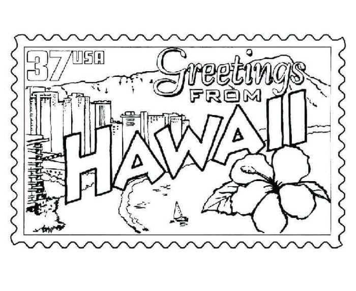 Printable August Coloring Pages Coloring Pages Flag Coloring Pages Hawaiian Crafts