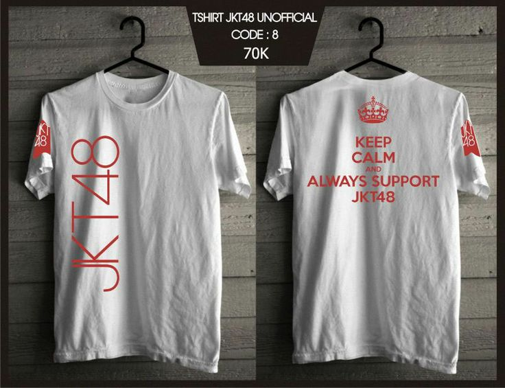 Kaos JKT48 - Keep Calm White -  SMS 0838 077 97257