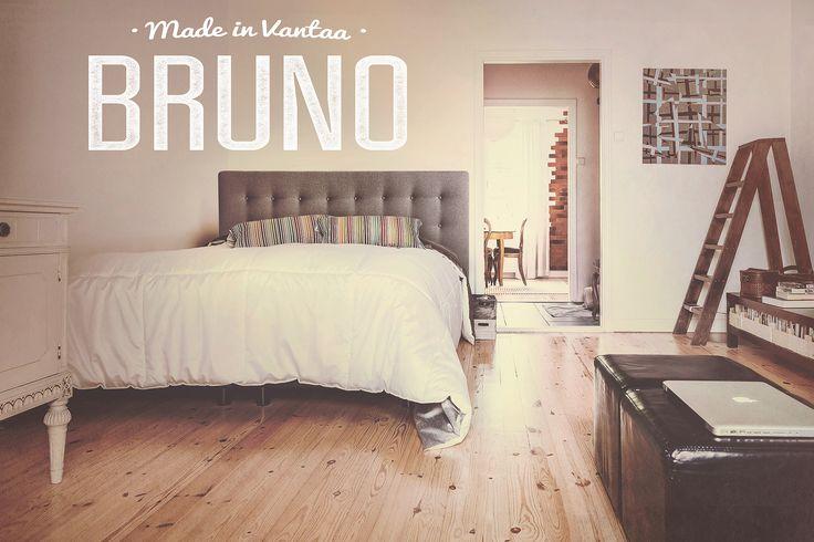 Bruno -sängynpääty nappeineen on varmasti tyylikäs. #habitare2015 #design #sisustus #messut #helsinki #messukeskus