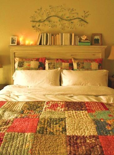 My bed! oh how comfy and loving she is! i also stacked my books  Bookshelf  HeadboardHeadboard IdeasDiy ...