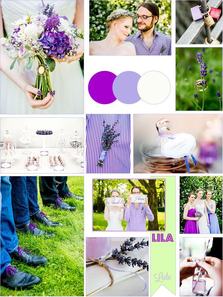 Moodboard für die DIY-Hochzeit: alles in Lila!