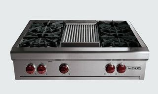 "36"" Wolf Gas Rangetop - contemporary - cooktops - by Sub-Zero and Wolf"