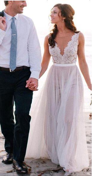 beach wedding dress,Elegant Ivory Lace Tulle Wedding Dresses,Sleeveless Scoop Beach Wedding Dress,2017 See Through Cheap Wedding Gowns,High Quality Bridal Dress