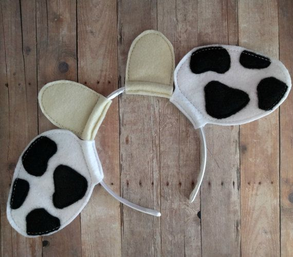 Dress up like your favorite animal with this cute cow ears headband! Great for dress up, Halloween or hanging out at Chick-Fil-A!  These