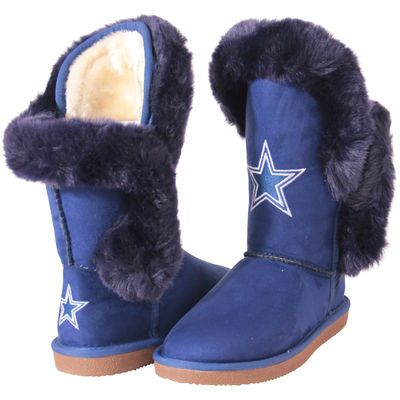 Cuce Dallas Cowboys Women's Navy Blue Champions Boots
