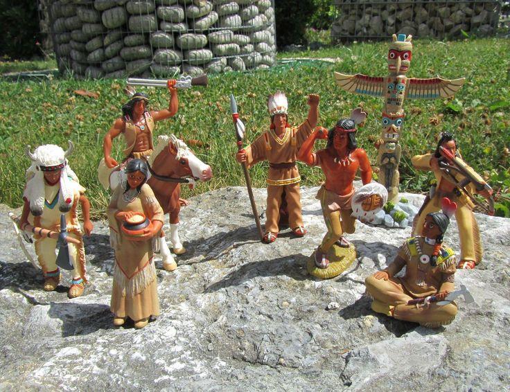 "Original Bullyland Indianer & Pferd Figuren 9 tlg. Set ""Hohe Qualität"" 9016"
