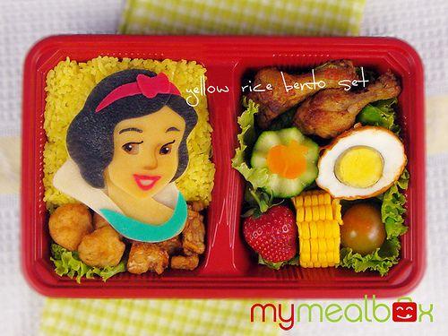 Snow White Bento.: Lunches, Princess Bento, Disney Princess, White Bento, Kids, Disney Food, Snow White