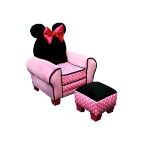 Minnie Mouse Chair And Ottoman: Mice, Disney Minnie, Girl, Chairs, Minnie Mouse, Kids, Ottomans, Mouse Chair, Room