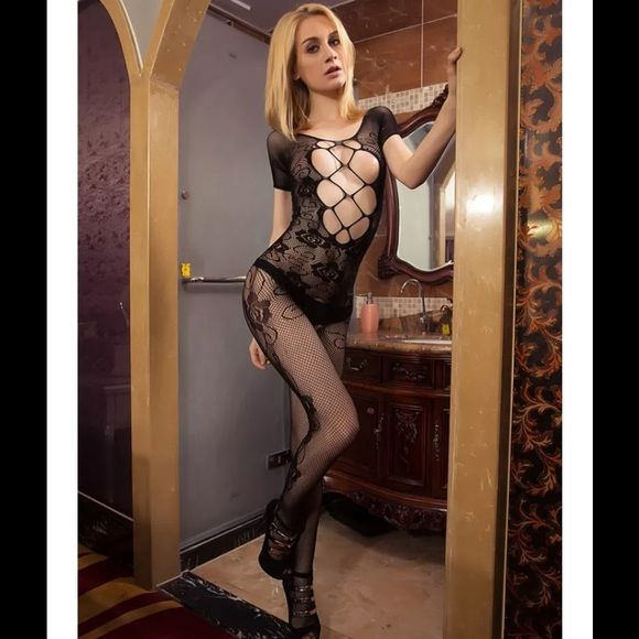 Black body stocking Very stretchy Intimates & Sleepwear