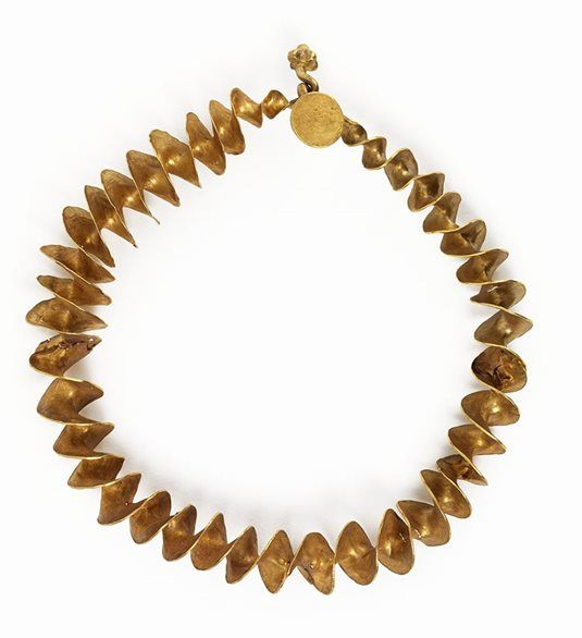 Gold Ribbon Torc.  National Museum of Ireland.