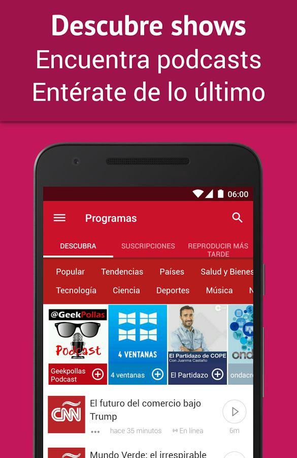 Podcast Player - Gratis: captura de pantalla