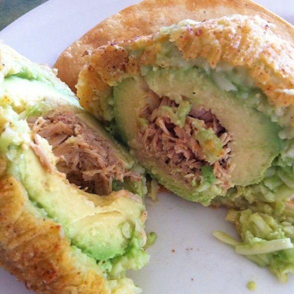 Deep Fried Avocado Stuffed With Carne Asada