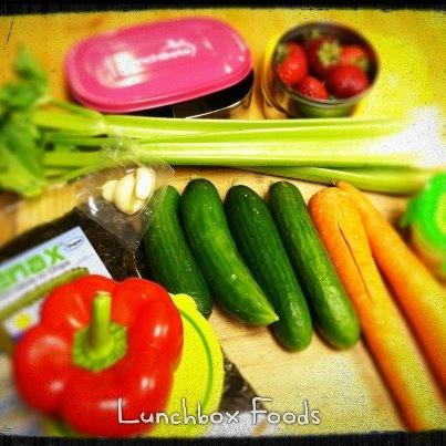 Veggie prep for Lunchbox Options!