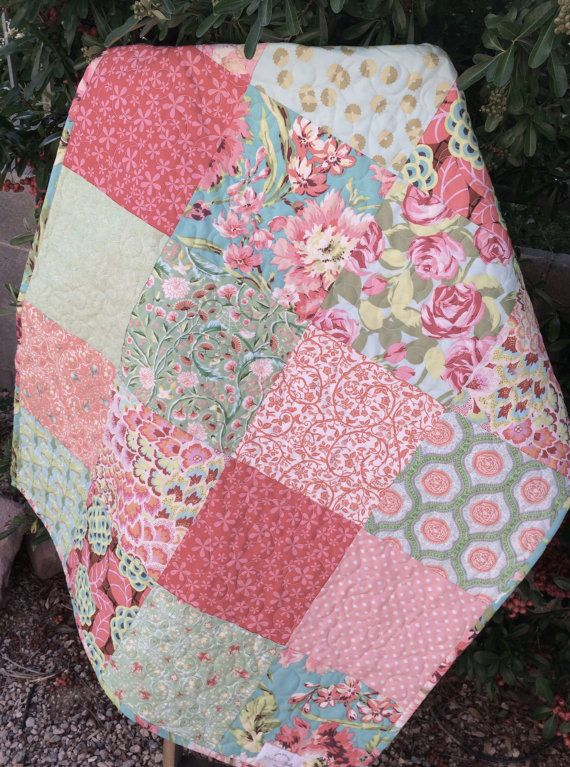 33 best Handcrafted Baby Quilts images on Pinterest | Machine ... : designer baby quilts - Adamdwight.com