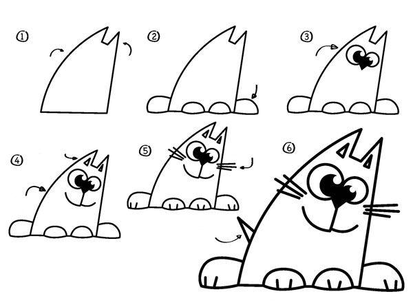 ok google как нарисовать кота - Поиск в Google | Детское ...