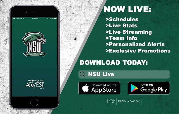 NSU Athletics partners with Arvest Bank and From Now On to provide Mobile App