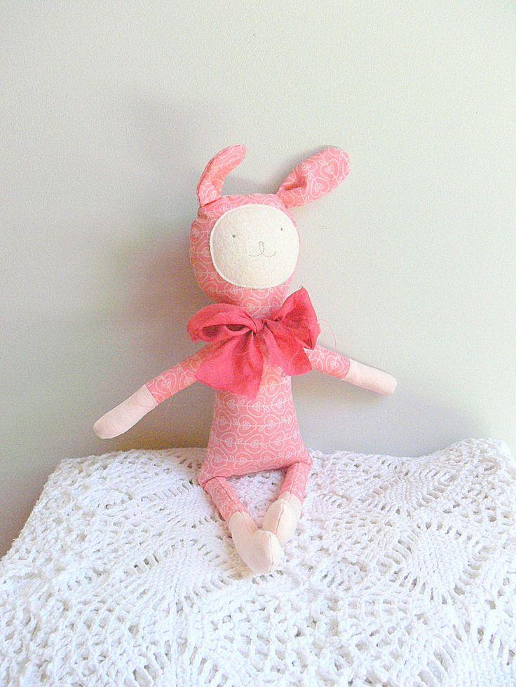 Bunny Soft Toy, Stuffed Animal Toy, Stuffed bunny Toy, Soft Toy for Baby Boy by MiniwerkaToys on Etsy