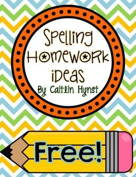 This is a list of ideas on ways to practice spelling words.