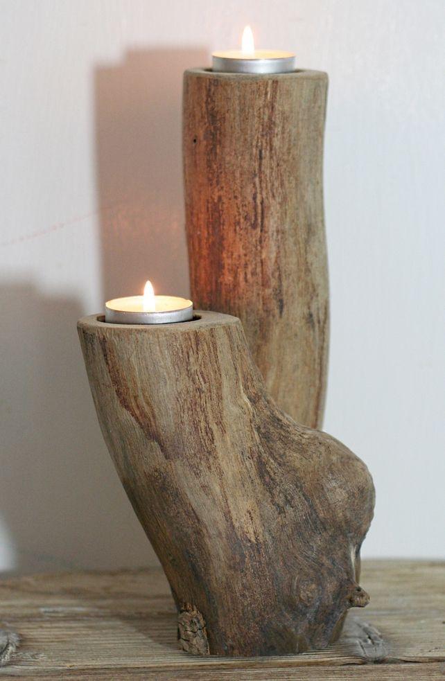 Driftwood candelabra, Drift Wood Candle holder, Drift wood table decoration. £30.00