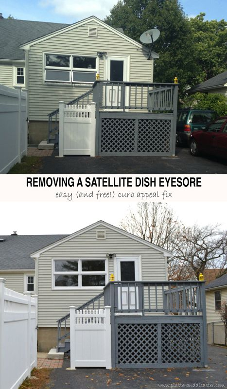 Home improvement - how to remove a satellite dish -- Plaster & Disaster