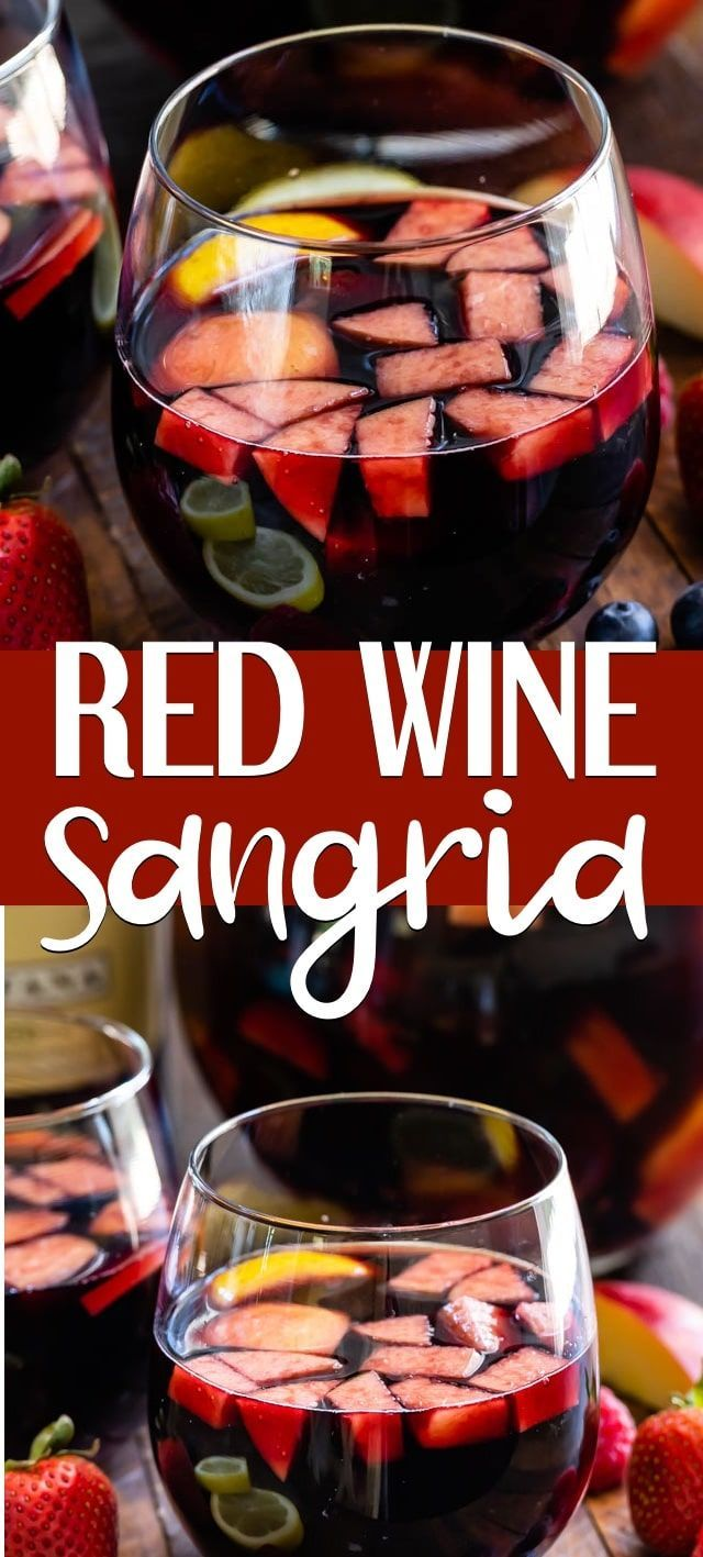 Red Wine Sangria Is Such A Classic Sangria Recipe My Red Sangria With Brandy Is The Perfect Party Punch R Sangria Recipes Red Wine Sangria Red Sangria Recipes