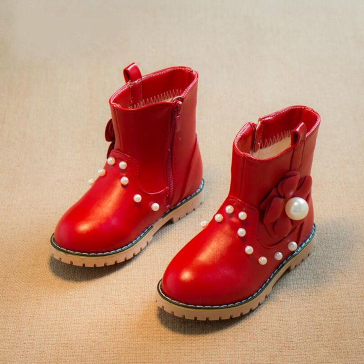 >> Click to Buy << New style kids boots girls shoes fashion pearl pu leather girls boots girls winter boots kids warm cotton boots girls shoes #Affiliate