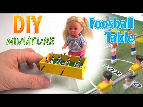 DIY desktop Mini Foosball Game Tabletop Indoor Soccer | DollHouse - YouTube