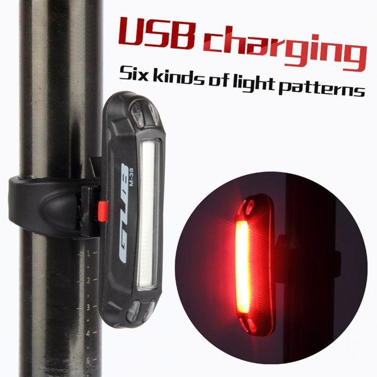 Luce della coda della bicicletta luce posteriore usb ricaricabile potente impermeabile ha condotto la luce montagna mtb della strada della bici luci lampada gub