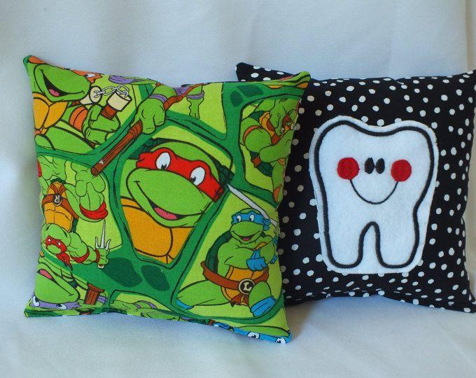 Tooth Fairy Pillow, Teenager Mutant Ninja Turtles Pillow, Tooth Pillow Pocket, Child Pillow, Boy Pillow, Tooth Pillow, Boy Gift