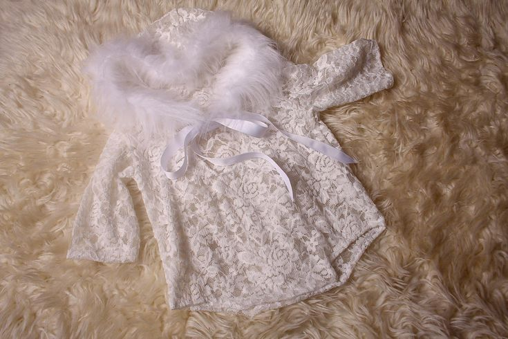 Excited to share the latest addition to my #etsy shop: White lace fur trimmed hoodie romper,for baby girl newborn to sitter 9-12 month sizes,Christmas photography prop,Handmade in the UK by me. http://etsy.me/2AKN0Za #clothing #children #bodysuit #white #babyshower #ch